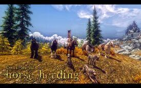 Convenient Horse Herding