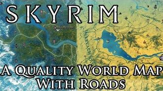 Skyrim Mod A Quality World Map - With Roads - UI