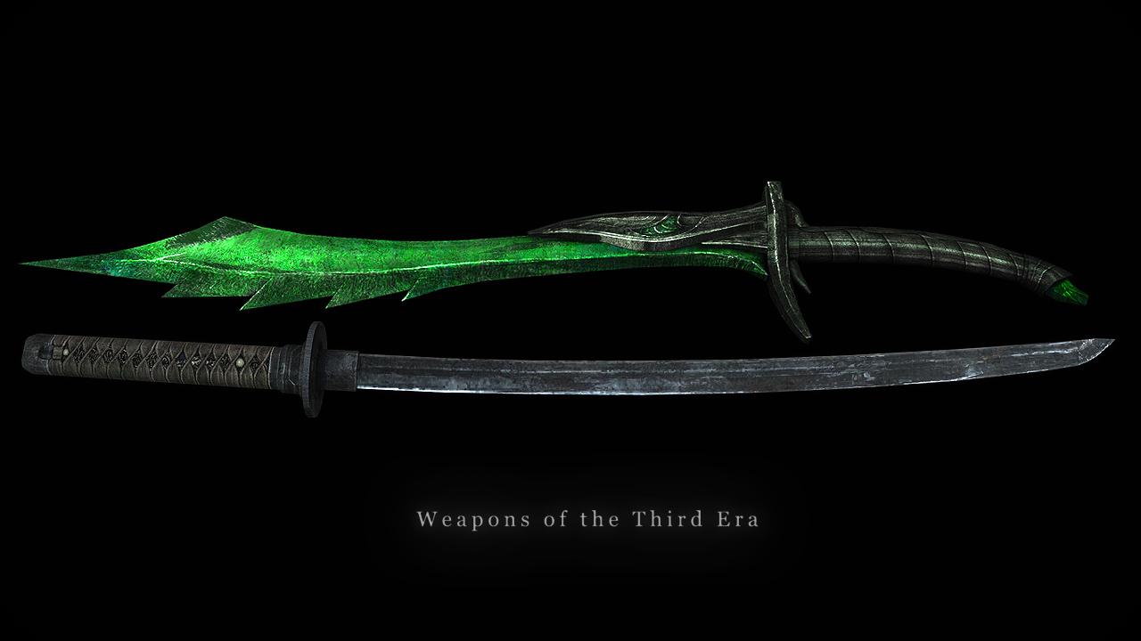 Weapons Of The Third Era The Elder Scrolls Mods Wiki Fandom