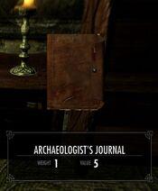 Skyrim Helgen Reborn Archaeologist's journal