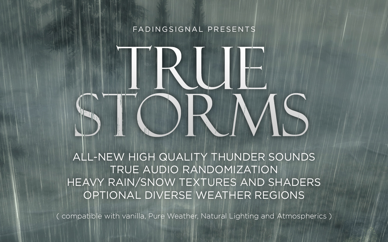 True Storms - Thunder and Rain Redone | The Elder Scrolls Mods Wiki