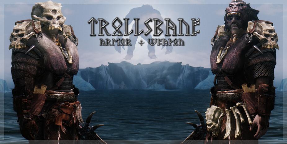 trollsbane armor and weapon the elder scrolls mods wiki fandom