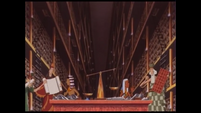 Moses (left) and Merneptah (right) being educated