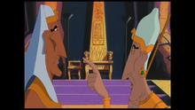 Merneptah (left) and Ramses II (right) talking about being just