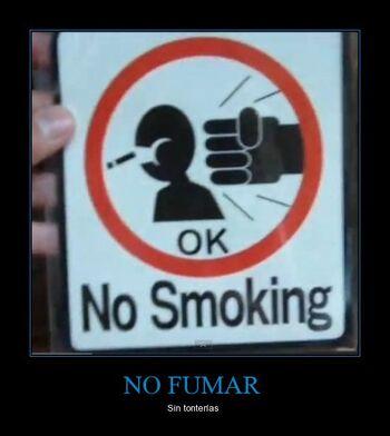 CR 461126 no fumar