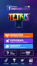 Tetris main menu
