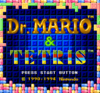 Tetris and Dr Mario title