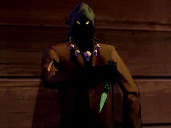 A bad man in a hood