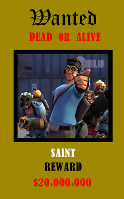 Saint's Wanted Poster