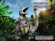 Autobot dinobot grimlock transformers jungle by lelmer77-d52j63d