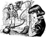 Таня, Гробыня и справочник с гирей