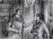 Эссиорх разговаривает с Варварой у себя на квартире