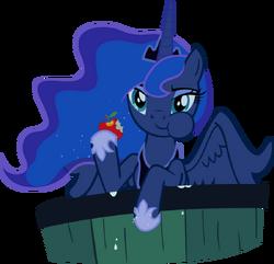 Luna eating an apple by supermatt314-d4dmx76
