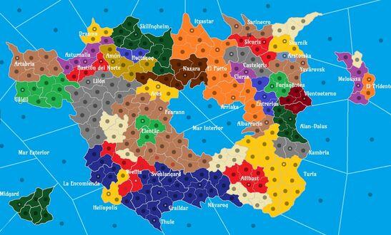 Mapa politico Thalesia Julio2019