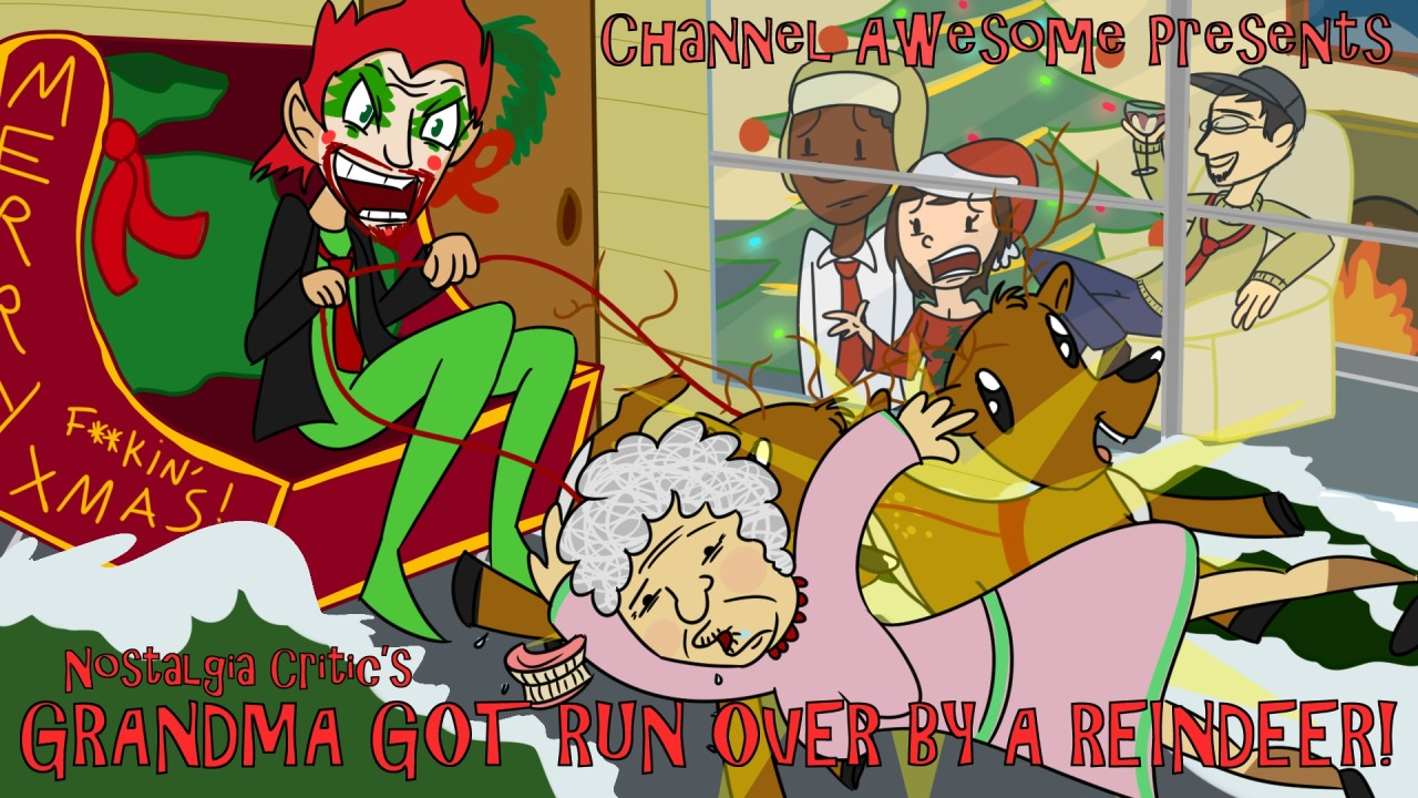 Humping Granny Good grandma got run overa reindeer (nc) | channel awesome | fandom