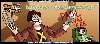 Wolverine adamantium rage at4w