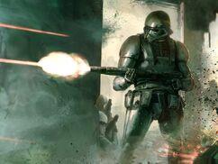 Empire fights milita