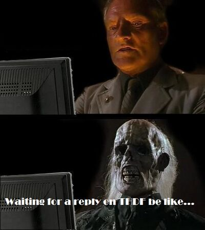 Waiting for a reply on THDF...