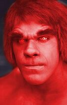 Lou Ferrigno Red Hulk (Photoshop)