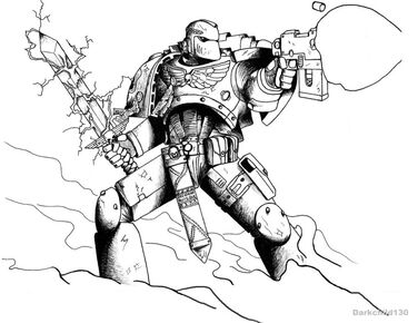 Commission blue hawks space marine by darkchild130-d50kazt