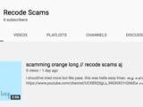 Recode Scams