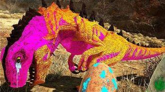 O BEBÊ GODZILLA ABANDONADO NO LAGO TOXICO ! Dinossauro Ark Survival Evolved