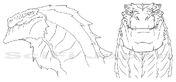 Godzilla headsketch