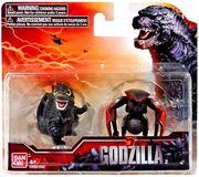 Godzilla 2014 and muto chibi toys by minanfranco-d79k6ek