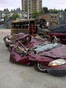 Godzilla 2014 Smashed Car 8
