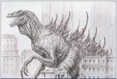 Godzilla 1998 concept.