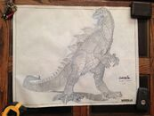 (3) Original Gozilla Drawing By Ricardo Delgado From Tri Star Pictures 1-1 RARE1