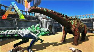 Ark Survival Evolved Godzilla Vs Titanosaur! - Zillark Treta Jurassica 8