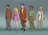 Godzilla main cast lineup style 2 by filbarlow-d4ua0o8