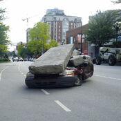 Godzilla 2014 Smashed Car 5