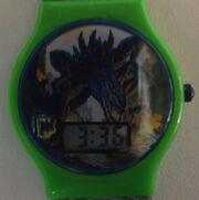 1998 TOHO LTD Godzilla Official Green Plastic Band Digital Watch