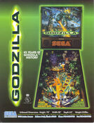 1998 SEGA GODZILLA PINBALL FLYER - LOT OF 10 NOS
