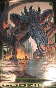 MOVIE POSTER~Godzilla 1998 Manhattan Island Rampage In NYC Original Sheet~New1