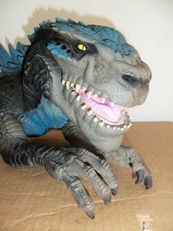 Godzilla hand operated head bust