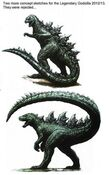 Officially rejected godzilla2014 concept designs