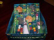 4 FLIX Gumball Dispensers GODZILLA, on card & in bag w DISPLAY, NIB, NOC 1998