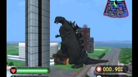 Godzilla Generations (1998) - Gameplay Including Godzilla-USA