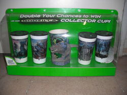 Godzilla Collector Cup Display From Taco Bell 1998