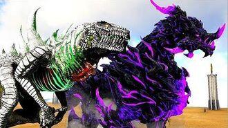 GodZilla Vs NOVO Dragão GIGANTE das Sombras! + Dinossauros! Ark Survival Evolved