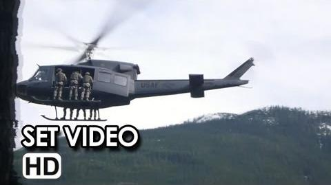 Godzilla Helicopter Rappel Set Video