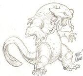 Urogora, salamander - Concept art and character design by Matt Frank