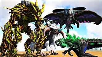 GodZilla Vs Forest Titan, IceTitan & Desert Titan! (ExTinction Boss) Ark Survival Evolved