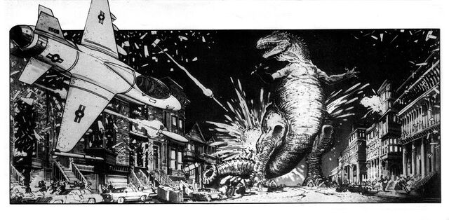 File:Story Boards for Steve Miner's proposed Godzilla film by William Stout3.jpg