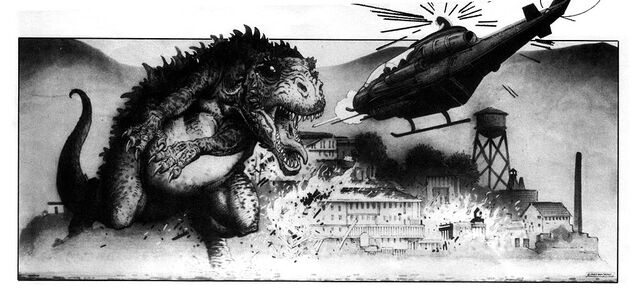 File:Story Boards for Steve Miner's proposed Godzilla film by William Stout2.jpg