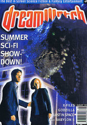 X-FILES GODZILLA LOST IN SPACEDreamwatchno.48August1998