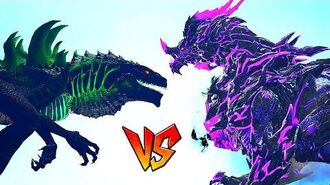 Ark Survival - GODZILLA vs DRAGON DARK GOD Ep.27